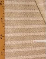 Tissu lin de Russie ''Beige Strips''