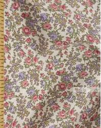 Tissu coton fleuri au metre ''Bouquet Of Flowers On White''}