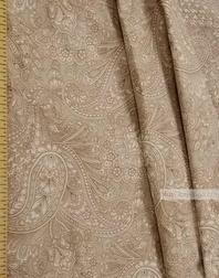 Tissu vintage folklorique au metre''Oriental Motif, Beige''}