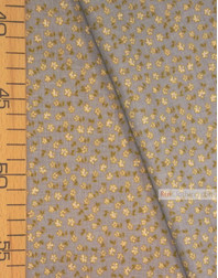 Tissu coton fleuri au metre ''Small Milk Flowers On Gray-Blue''}
