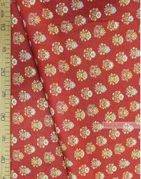 Tissu d'art folklorique au metre ''Ornament Thistle On Red ''}