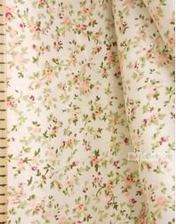 Tissu coton fleuri au metre ''Petals''}