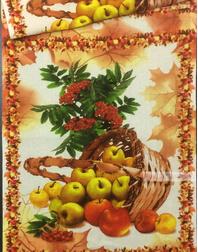 Tissu nid d'abeille au metre ''Onion With Apples''}