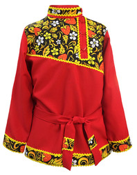 Traditional cotton Russian shirt  Khokhloma for men