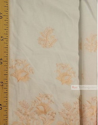 Embroidered Cotton Fabric ''Flowers on the border''}