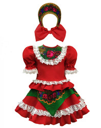 Russian ballet dance dress ''Quadrille'' with Kokohnik