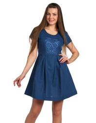 Casual linen dress with embroidery ''Paloma''