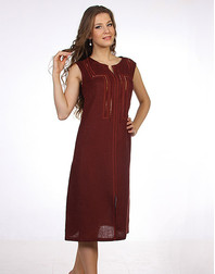 Casual linen dress with embroidery ''Zlata''