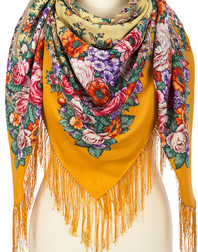 Wool shawl ''Letter to Darling''