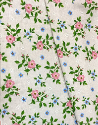 Ukrainian embroidery fabric Cornflowers and daisies