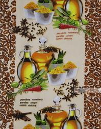 Tissu imprime nid d'abeille au metre ''Condiment''}
