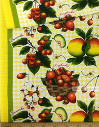 Waffle Textured Fabric by the yard ''Apples And Berries''}