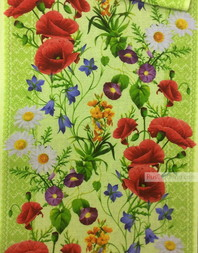 Waffle Textured Fabric by the yard ''Field Flowers''}