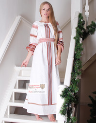 white Russian dress