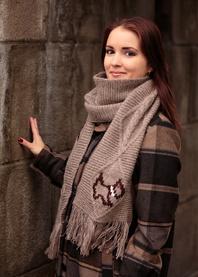 Scotch hand knit scarf