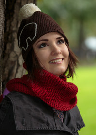 Bear hand knit hat