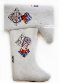 patchwork valenki felt boots