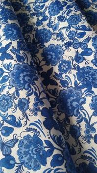 Gzhel fabric by the yard