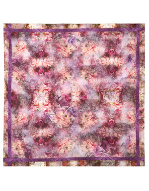 Foulard en coton ''Purple Morning''