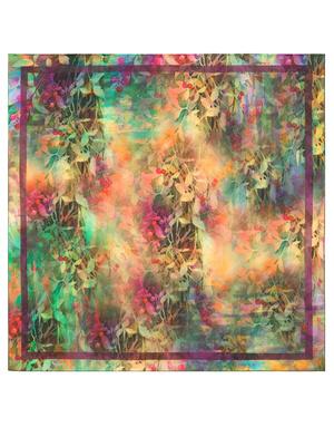 Foulard en coton ''Rainbow greenery''