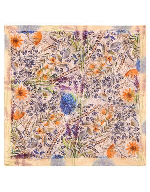 Cotton head scarf ''Field Flowers''