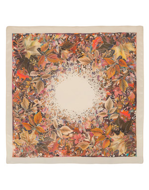 Silk scarf ''Autumn Tune''