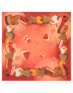 Cotton head scarf ''Sweets''