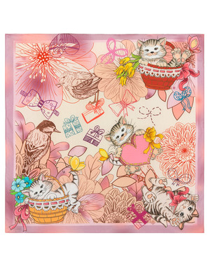 Foulard en coton ''Kitties''