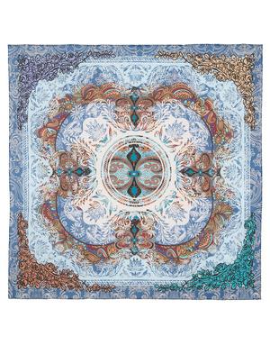 Cotton head scarf ''Frosty pattern''