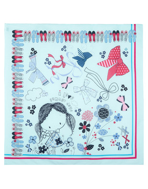 Cotton head scarf ''Bows Parade''