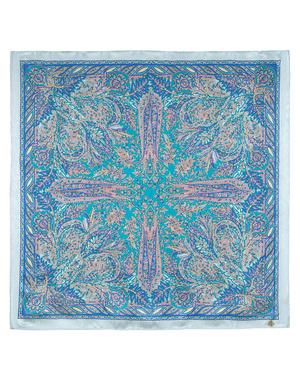 Silk shawl ''Young grass''