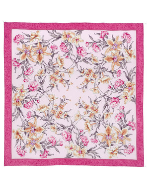 Silk shawl ''Scent of Spring''
