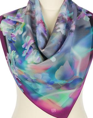 Silk scarf ''Tender lilac''