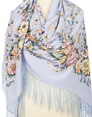 Silk shawl ''Joy of Soul''