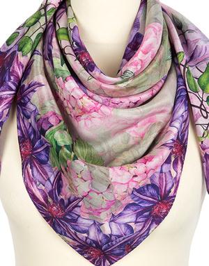 Châle en soie ''Gentian violet''