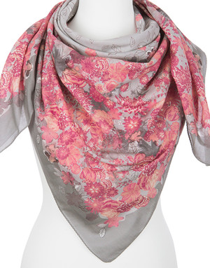 Cotton shawl ''Roseate''