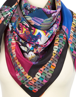 Silk shawl ''Floral abstraction''