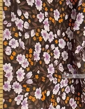 Tissu coton fleuri au metre ''Night Flowers''}