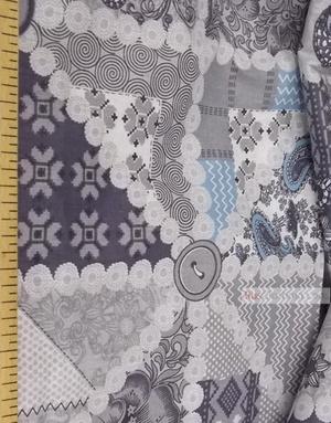 Tissu d'art folklorique au metre ''Gray Flap''}