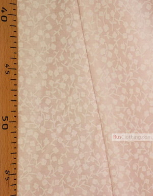 Tissu coton fleuri au metre ''Small White Flowers On Pale Pink''}