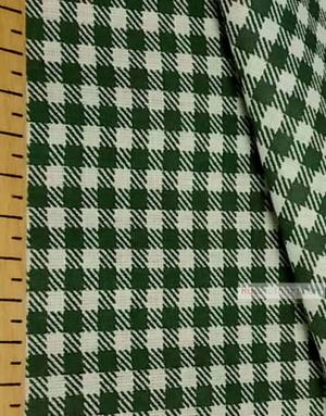 Tissu géométrique au metre ''White-Green Plaid''}