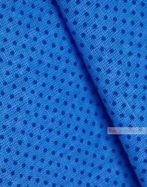Tissu d'art folklorique au metre ''Blue Polka-Dot On Blue''}