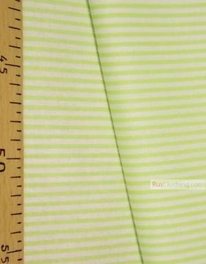 Tissu coton blanc au metre ''Narrow, Pale-Green Stripe On White''}