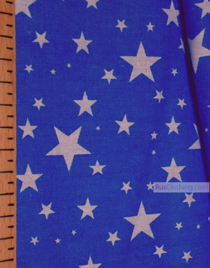 Kids Fabric by the Yard ''Stars On Bright Blue''}
