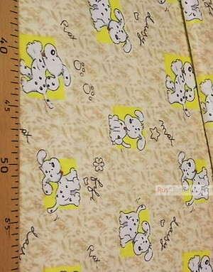 Childrens Fabric by the Yard ''Dalmatians On Yellow''}