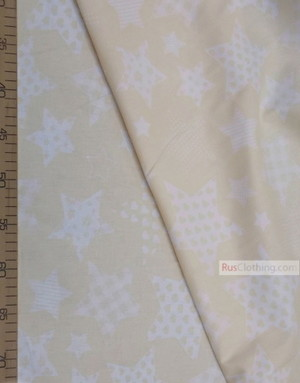 Nursery Fabric by the Yard ''White Star Pattern On The Sand''}