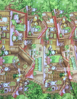Nursery Fabric by the Yard ''Forest Family''}