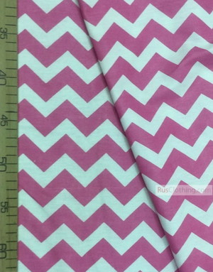 Baby Quilt Fabric by the Yard ''White-Pink Zigzag''}
