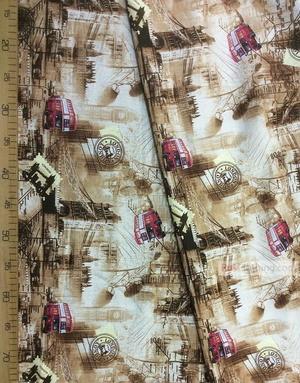 Tissu coton imprime au metre ''London''}