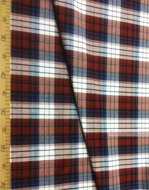 Tissu géométrique au metre ''Red-Blue Plaid (Large)''}